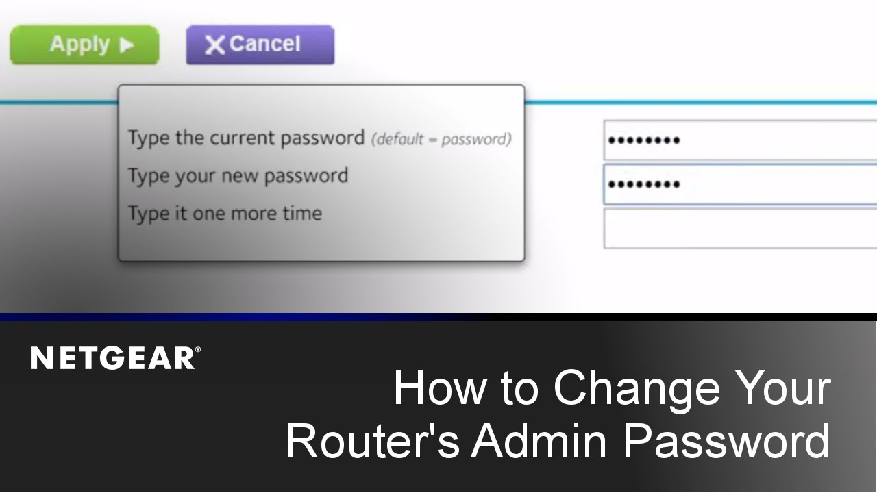 Change the Password for the username admin in Netgear Orbilogin.com Router