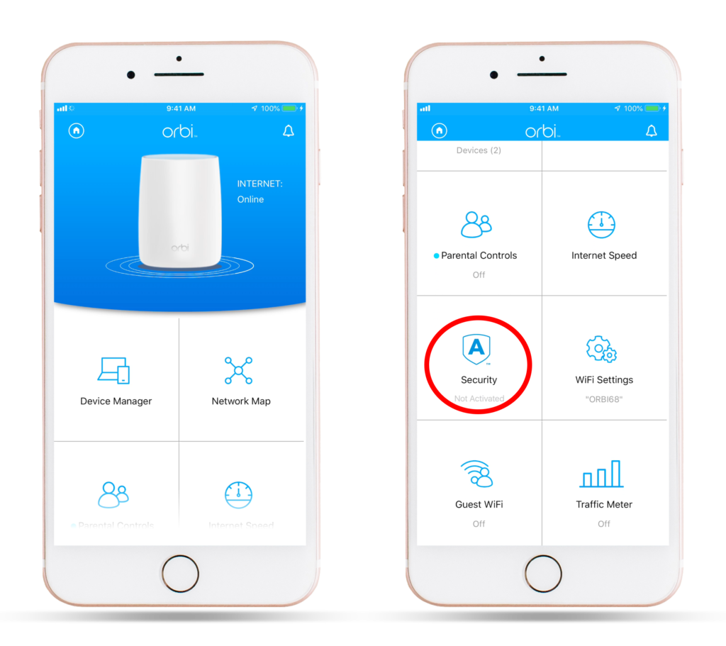 Manage And Activate The Netgear Armor Via Orbi Application